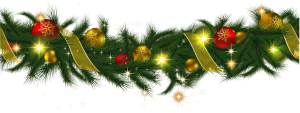 transparent_christmas_pine_garland_with_lights_clipart